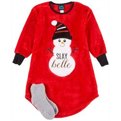 Jelli Fish Inc. Little Girls Snowman Nightgown