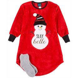 Little Girls Snowman Nightgown
