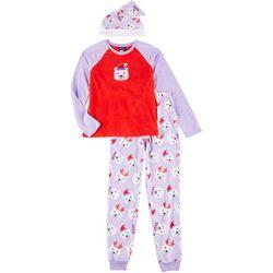 Jelli Fish Inc. Girls Polar Bear Pajama Set With Hat