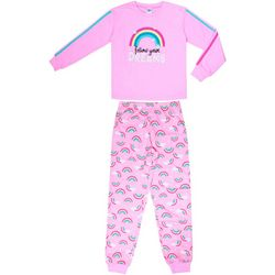 Jelli Fish Inc. Big Girls 2-pc. Rainbow Dreams Pajama Set