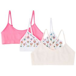 Maidenform Girl Girls 3-pk. Solid & Rainbow Print Bralettes