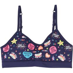 Girls Seamless Ruched Fun Icon Bralette