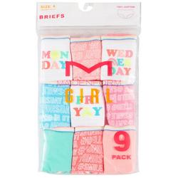 Girl Big Girls 9-pk. Weekday Panties
