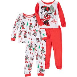 Mickey Mouse Toddler Girls 4-pc. Sleepwear Set