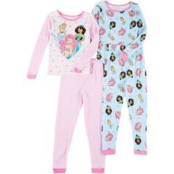 Princess Toddler Girls 4-pc. Sleepwear Set