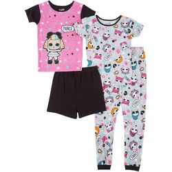 Little  4-pc. Fierce Snug Fit Pajama Set