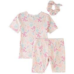 Sweet Dreams Little Girls 3-pc. Floral Print Pajama Set