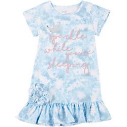 Little Girls 2-Pc. Sleep Gown & Scrunchie