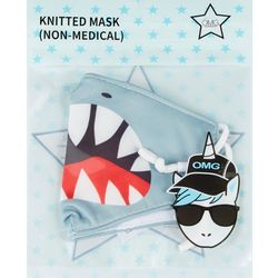 OMG Boys Shark Adjustable Face Masks