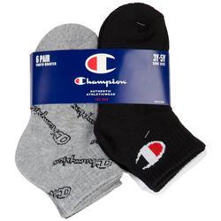 Boys 6-pk. Logo Quarter Length Socks