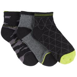 Stride Rite Boys 3-pk. George Geo Quarter Socks