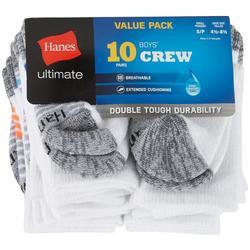 Boys 10-pk. Cool Comfort Crew Socks