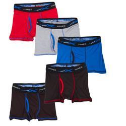 Boys 5-pk. X-Temp Sport Solid Boxer Briefs