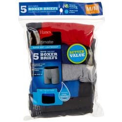 Boys 5-pk. Ultimate Solid Tagless Boxer Briefs