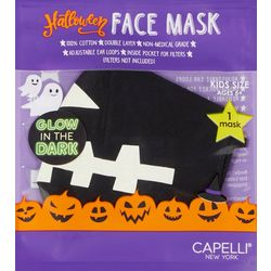 Boys Glow In The Dark Jack-O-Lantern Face Mask