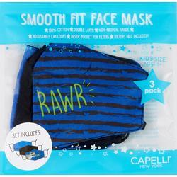 Boys 3-pk. Dino Face Mask