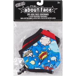 Boys 3-pk. Bang Boom Face Masks