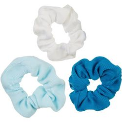 Nicole Miller New York 3-pk. Ribbed Solid Hair Scrunchies