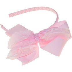 Riviera Girls Jumbo Chiffon and Dot Bow Headband