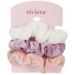 Riviera 3-pk. Velvet Hair Scrunchies
