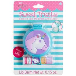 2-Pc. Unicorn Pop-Up Brush & Lip Balm Set