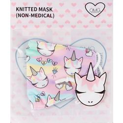 Girls Rainbow Unicorn Face Masks