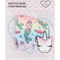 Girls Rainbow Mermaid Face Mask
