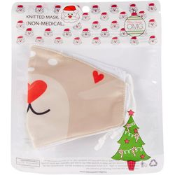 Girls Festive Reindeer Face Mask