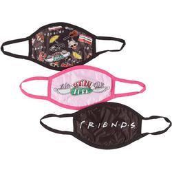 Girls 3-pk. Friends Face Masks