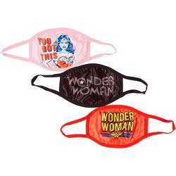 DC Comics Girls 3-pk. Wonder Woman Face Masks