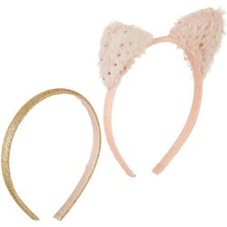On The Verge Girls 2-pk. Furry Cat Ear Headbands