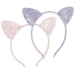 Girls 2-pk. Glitter Cat Ear Headbands