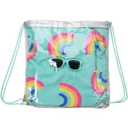 Capelli 3-pc. Backpack With Rainbow Print Towel Set