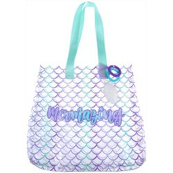 Capelli Mermaid Scale Tote & Scrunchies Set