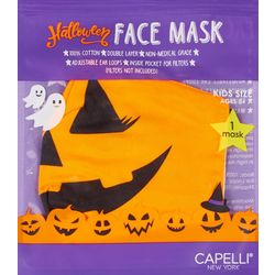 Girls Pumpkin Face Mask