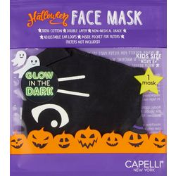 Girls Glow In The Dark Black Cat Face Mask