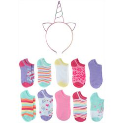 Capelli Girls 20-pk. Unicorn Socks With Bonus Headband