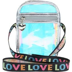 Capelli Girls Holographic Transparent Crossbody Handbag