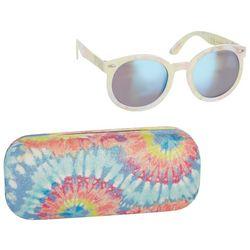 Girls 2-pc. Tie Dye Sunglasses and Case Set