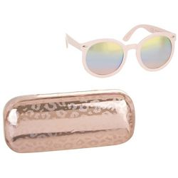 Girls 2-pc. Leopard Sunglasses and Case Set