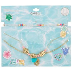 Capelli Girls 3-pk. Chocker & Layered Necklaces