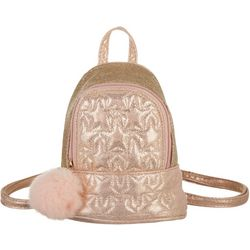 Olivia Miller Girls Glitter Pom Backback