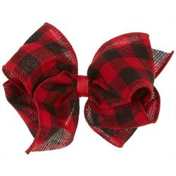 Girls Checkered Hair Bow