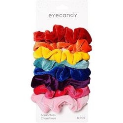 8-pc. Solid Velvet Scrunchies
