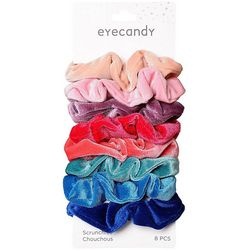 Eye Candy 8-pc. Solid Velvet Scrunchies