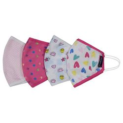 Girls 4-pk. Heart Print Face Masks
