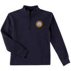 School Colors Youth St Martha Uniform Quarter Zip Sweatshirt