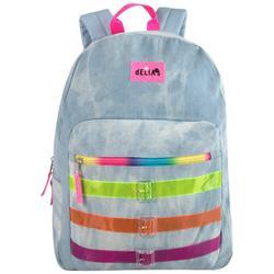 Fuzzy Rainbow Backpack