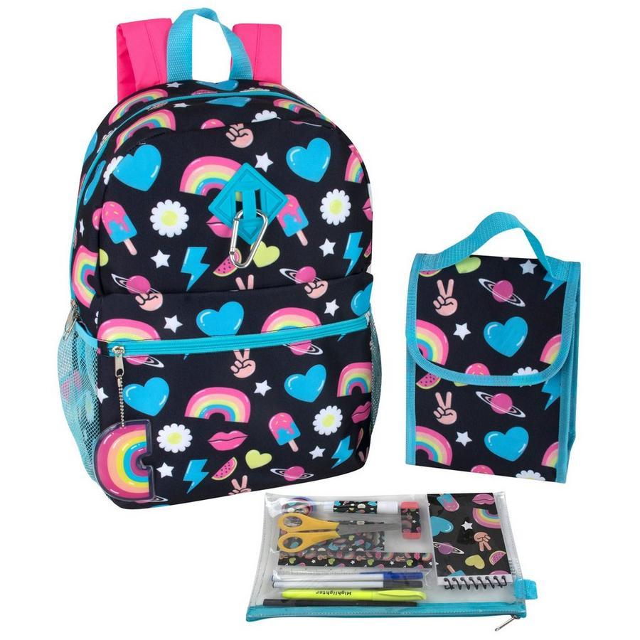 Rainbow Peace Heart Backpack Set | Bealls