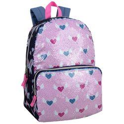 Madison And Dakota Sequin Hearts Backpack